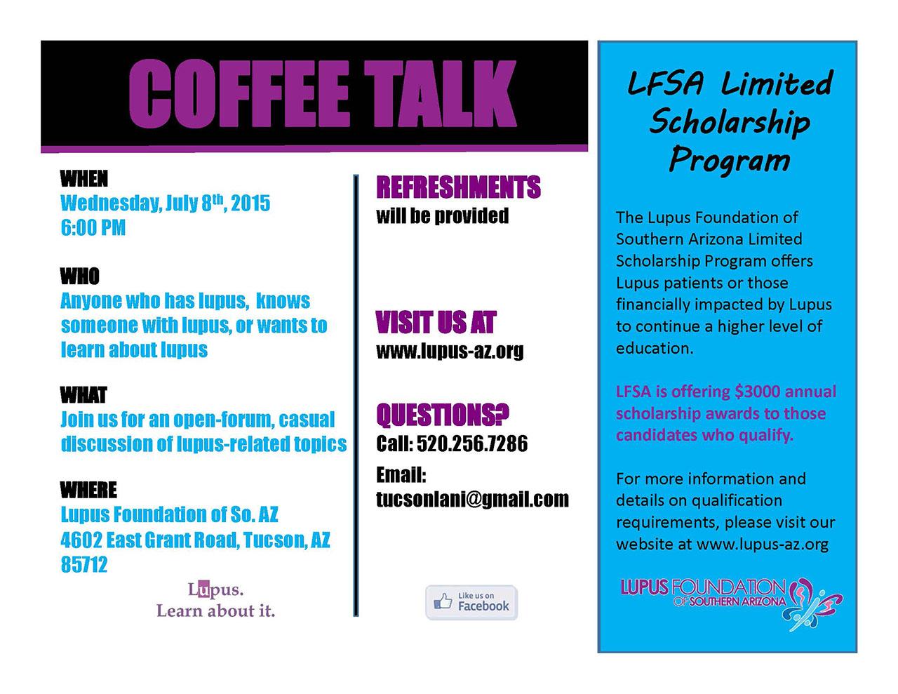 Coffee Talk July 8 Flyer